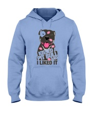 Kiss a pitbull TM99 Hooded Sweatshirt tile