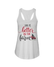 Life Is Better On The Farm NO96 Ladies Flowy Tank thumbnail