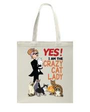 I'm The Crazy Cat Lady HT10 Tote Bag thumbnail
