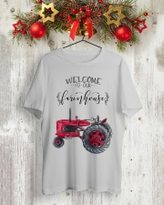 Welcome To Our Farmhouse TT99 Classic T-Shirt lifestyle-holiday-crewneck-front-2