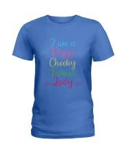 I am a piggy cheeky farmer lady-QT00 Ladies T-Shirt thumbnail