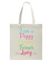 I am a piggy cheeky farmer lady-QT00 Tote Bag thumbnail