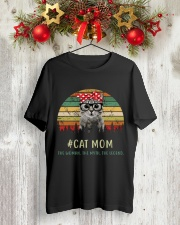 Cat Mom TM99 Classic T-Shirt lifestyle-holiday-crewneck-front-2