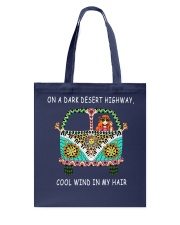 On a dark desert highway QQ26 Tote Bag tile