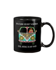 On a dark desert highway QQ26 Mug tile