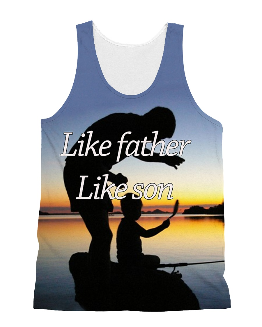 Like Father Like Son Fishing LA03 All-over Unisex Tank