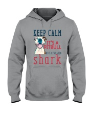 Keep Calm It's A Pitbull HT10 Hooded Sweatshirt front