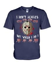 Halloween Horror Movie Killer Tshirt V-Neck T-Shirt thumbnail
