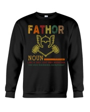 Fathor Like A Dad Just Way Mightier Hands Crewneck Sweatshirt thumbnail