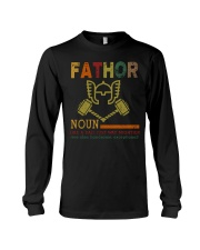 Fathor Like A Dad Just Way Mightier Hands Long Sleeve Tee thumbnail