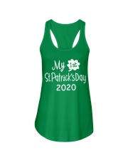 My First ST Patricks Day T Shirt Ladies Flowy Tank tile