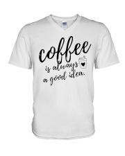 Coffee is Always A Good Idea V-Neck T-Shirt thumbnail