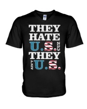 They Hate US Cuz They Ain't US Patriotic T-Shirt V-Neck T-Shirt thumbnail