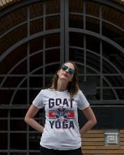 GOAT Yoga T-Shirt Premium Fit Ladies Tee lifestyle-women-crewneck-front-1