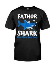 Fathor Shark Shirt Father's Day Gift Premium Fit Mens Tee thumbnail