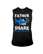Fathor Shark Shirt Father's Day Gift Sleeveless Tee thumbnail