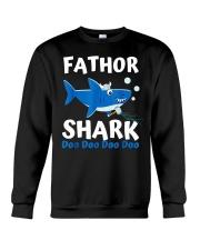 Fathor Shark Shirt Father's Day Gift Crewneck Sweatshirt thumbnail