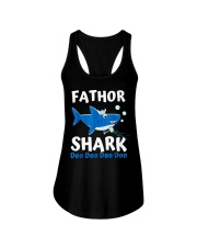 Fathor Shark Shirt Father's Day Gift Ladies Flowy Tank thumbnail