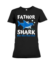 Fathor Shark Shirt Father's Day Gift Premium Fit Ladies Tee front