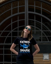 Fathor Shark Shirt Father's Day Gift Premium Fit Ladies Tee lifestyle-women-crewneck-front-1
