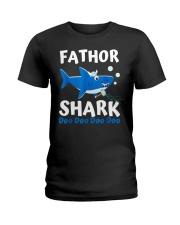 Fathor Shark Shirt Father's Day Gift Ladies T-Shirt thumbnail