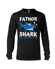 Fathor Shark Shirt Father's Day Gift Long Sleeve Tee thumbnail