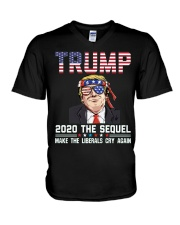 2020 The Sequel Make Liberals Cry Again T-Shirt V-Neck T-Shirt thumbnail