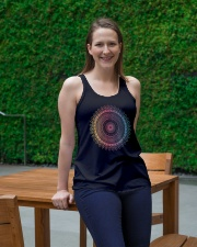 Yoga T Shirt Ladies Flowy Tank lifestyle-bellaflowy-tank-front-1