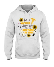 In A World Where You Can Be Anything Be Kind Hooded Sweatshirt thumbnail