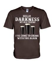 Hello Darkness My Old Friend T-Shirt V-Neck T-Shirt thumbnail