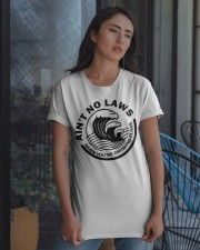 Ain't no laws when you're drinking claws t-shirt Classic T-Shirt apparel-classic-tshirt-lifestyle-08