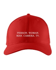 Person Woman Man Camera Tv hat Embroidered Hat front