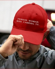 Person Woman Man Camera Tv hat Embroidered Hat garment-embroidery-hat-lifestyle-01