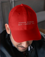 Person Woman Man Camera Tv hat Embroidered Hat garment-embroidery-hat-lifestyle-02
