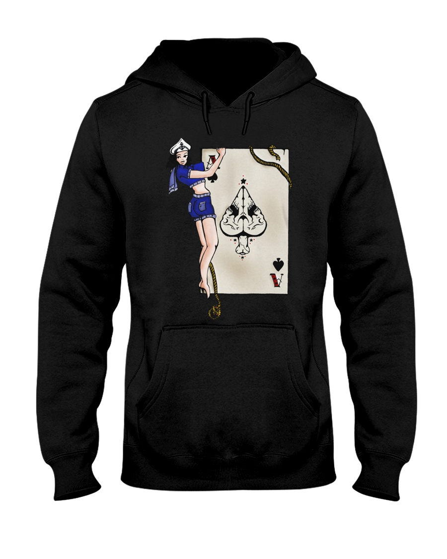 Sailor Jerry Pinup Ace Of Spades Hooded Sweatshirt
