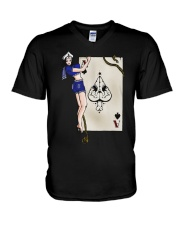 Sailor Jerry Pinup Ace Of Spades V-Neck T-Shirt tile