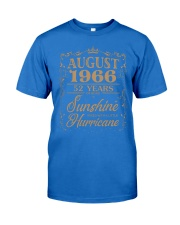 T Shirt AUGUST 1966 52 YEARS SUNSHINE HURRICANE Premium Fit Mens Tee front