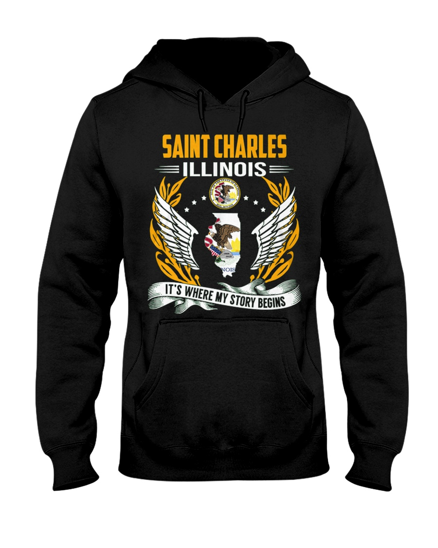 Saint Charles Illinois Hooded Sweatshirt