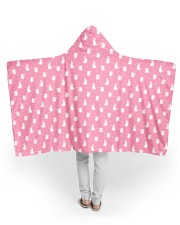 "Cute Rabbit Polka Dot Pattern 60"" x 50"" Hooded Blanket thumbnail"
