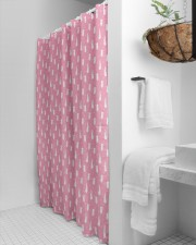 Cute Rabbit Polka Dot Pattern Shower Curtain aos-shower-curtains-71x74-lifestyle-front-01a