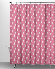 Cute Rabbit Polka Dot Pattern Shower Curtain aos-shower-curtains-71x74-lifestyle-front-06