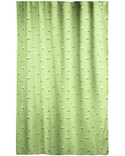 Wild Flower and Green Grass Pattern Window Curtain - Blackout front
