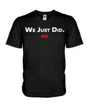 We Just Did 46 V-Neck T-Shirt thumbnail