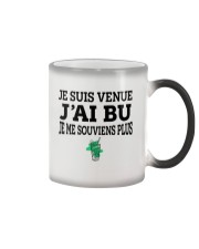 Je suis venue j'ai bu je me souviens plus Color Changing Mug thumbnail