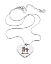 cute owls Metallic Heart Necklace aos-necklace-heart-metallic-lifestyle-03