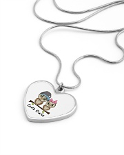 cute owls Metallic Heart Necklace aos-necklace-heart-metallic-lifestyle-05