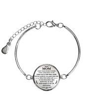 DEAR MOM - SON Metallic Circle Bracelet front