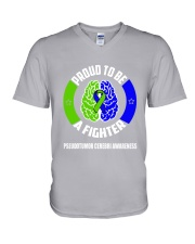 Pseudotumor Cerebri Warrior V-Neck T-Shirt thumbnail