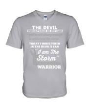Schizophrenia Warrior V-Neck T-Shirt thumbnail