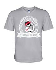 Feeding Tube Warrior V-Neck T-Shirt thumbnail